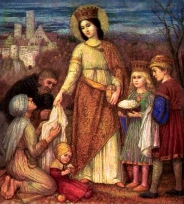 Elisabeth von Thüringen von Mathäus Schiestl, Gebetsbildchen, Quelle Archiv St.Elisabeth